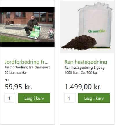 Køb noget til jordforbedring