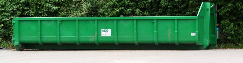 brug en container til jord og haveaffald