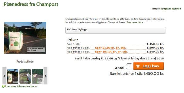 Køb den gode Champost topdressing blanding til bedste pris