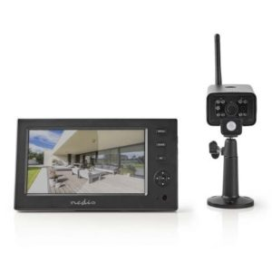 """Trådløst sæt med 7"""" monitor/ optager og 1 kamera"""
