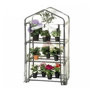 Hortus-drivhus-i-plast-med-hylder